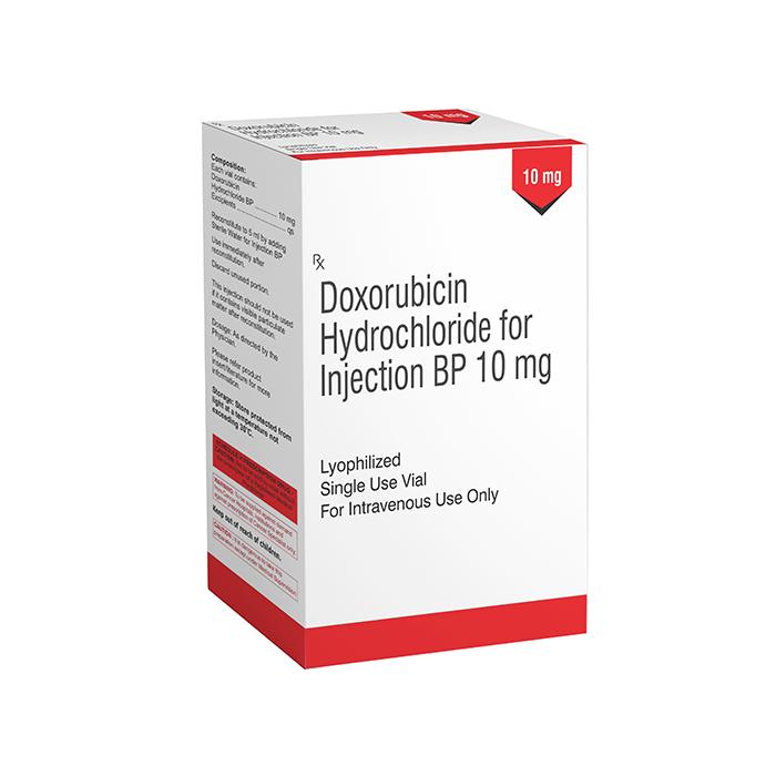 Doxorubicin Hydrochloride 10mg Injection Exporters